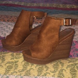 Charlotte Russe suede wedges